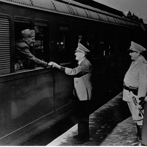 Benito Mussolini z wizytą u Adolfa Hitlera 1944