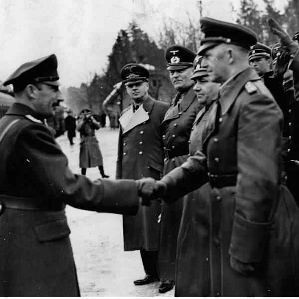 Król Bułgarii Borys III z wizytą w kwaterze głównej Adolfa Hitlera 1942