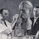 Arno Breker rzeźbi w czasach narodowego socjalizmu popiersie Alberta Speera (1940)