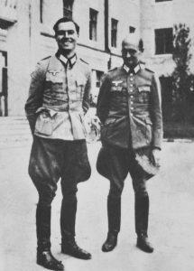Stauffenberg (left) and Albrecht Mertz von Quirnheim in 1944