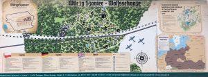 Plan Wilczego Szańca - Wolfsschanze Lage Plan 2019